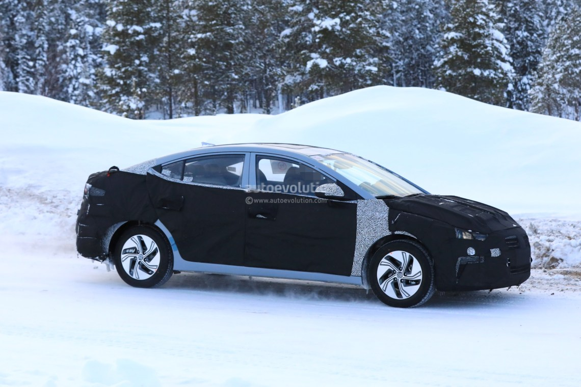 spyshots: 2019 hyundai elantra electric does cold-weather testing