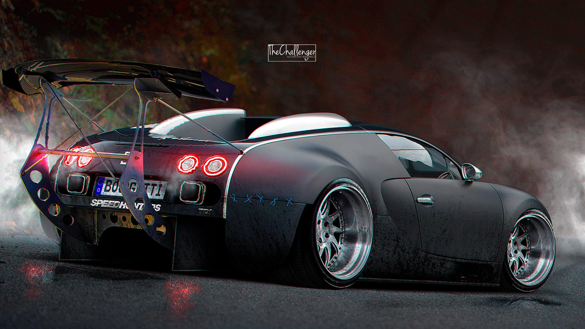 Wallpapers Oakley 3d Bugatti Veyron Gets Stanced Luckily It S A Rendering
