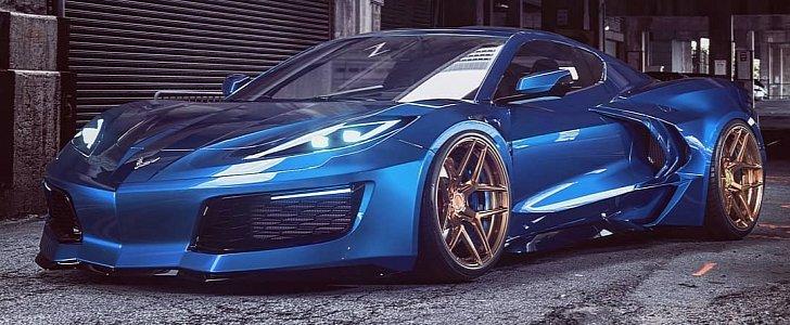 C8 Corvette Quot Blue Knight Quot Shows A Pretty Face Has
