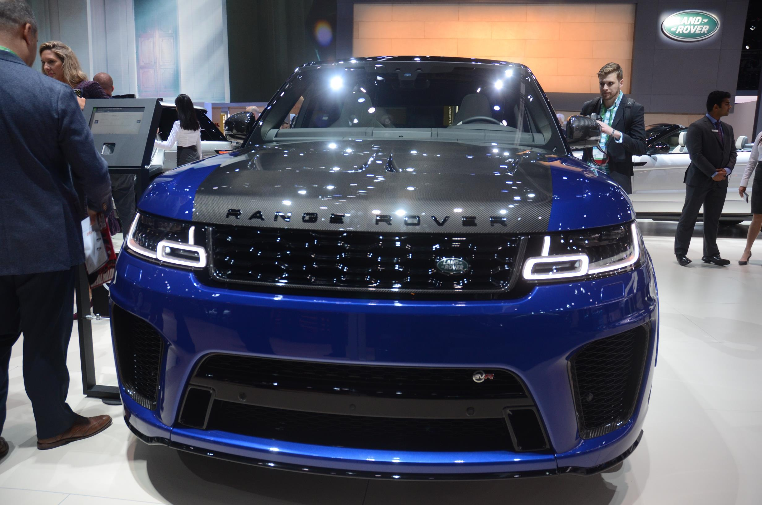 Carbon Hood on Range Rover Sport SVR Is Popping in Los Angeles
