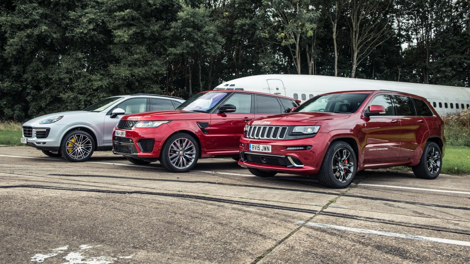 Cayenne Turbo Takes RR Sport SVR and Jeep Grand Cherokee SRT in