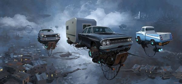 "Digital Artist Creates ""universe Scrap"" Classic Cars Float In Sky - Autoevolution"