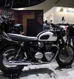 eicma 2015 triumph bonneville t120 and t120 black mean neo retro business [ 1920 x 1080 Pixel ]