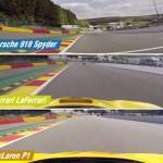 Ferrari Laferrari Porsche 918 Spyder And Mclaren P1 Racing On Spa Awesome Comparison Autoevolution