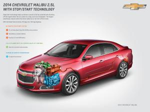 2014 Chevy Malibu With StopStart Gets 14% Better City