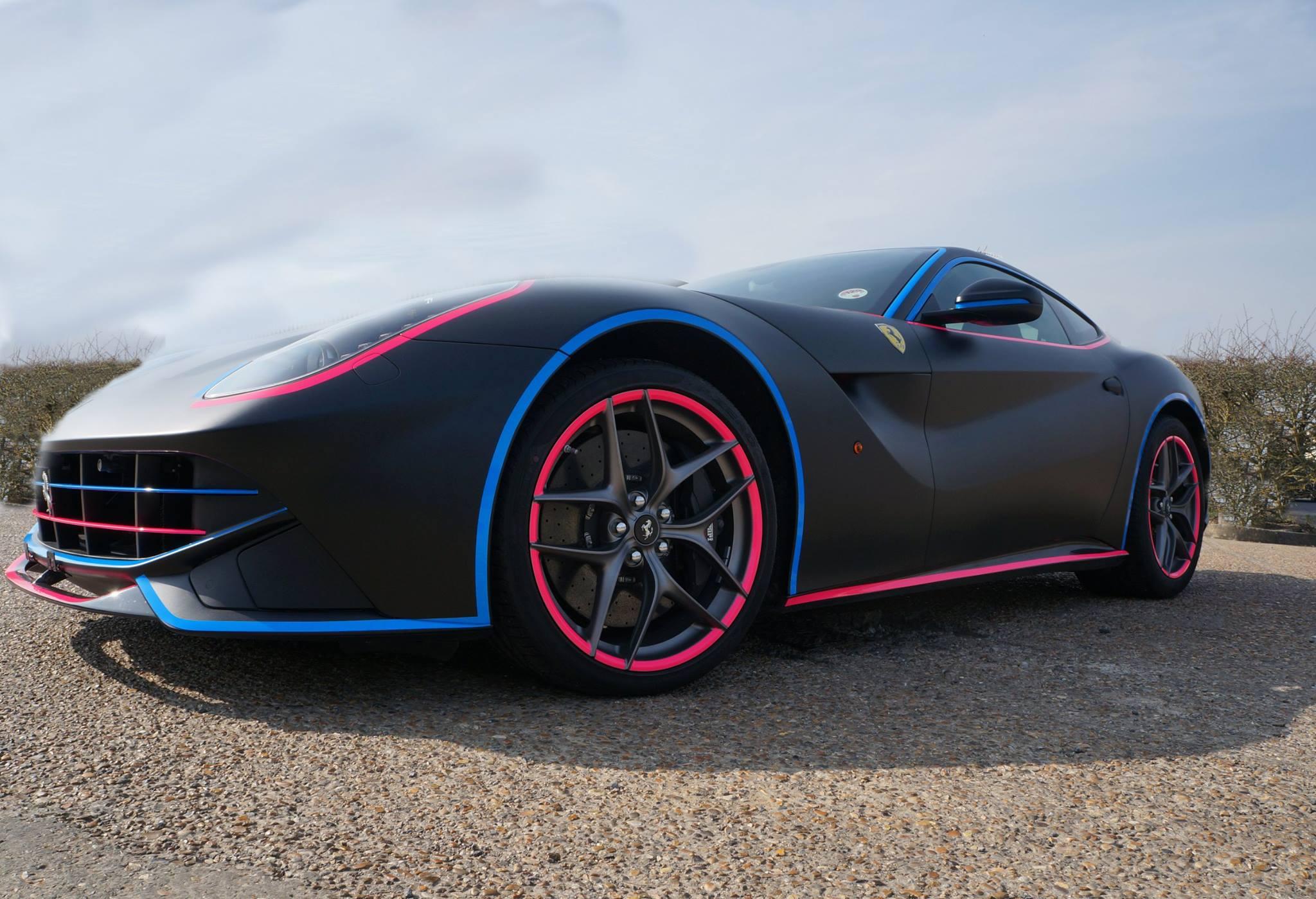 2014 Gumball 3000 Rally Wrap Ferrari F12 Gets Miami Vice Look  autoevolution