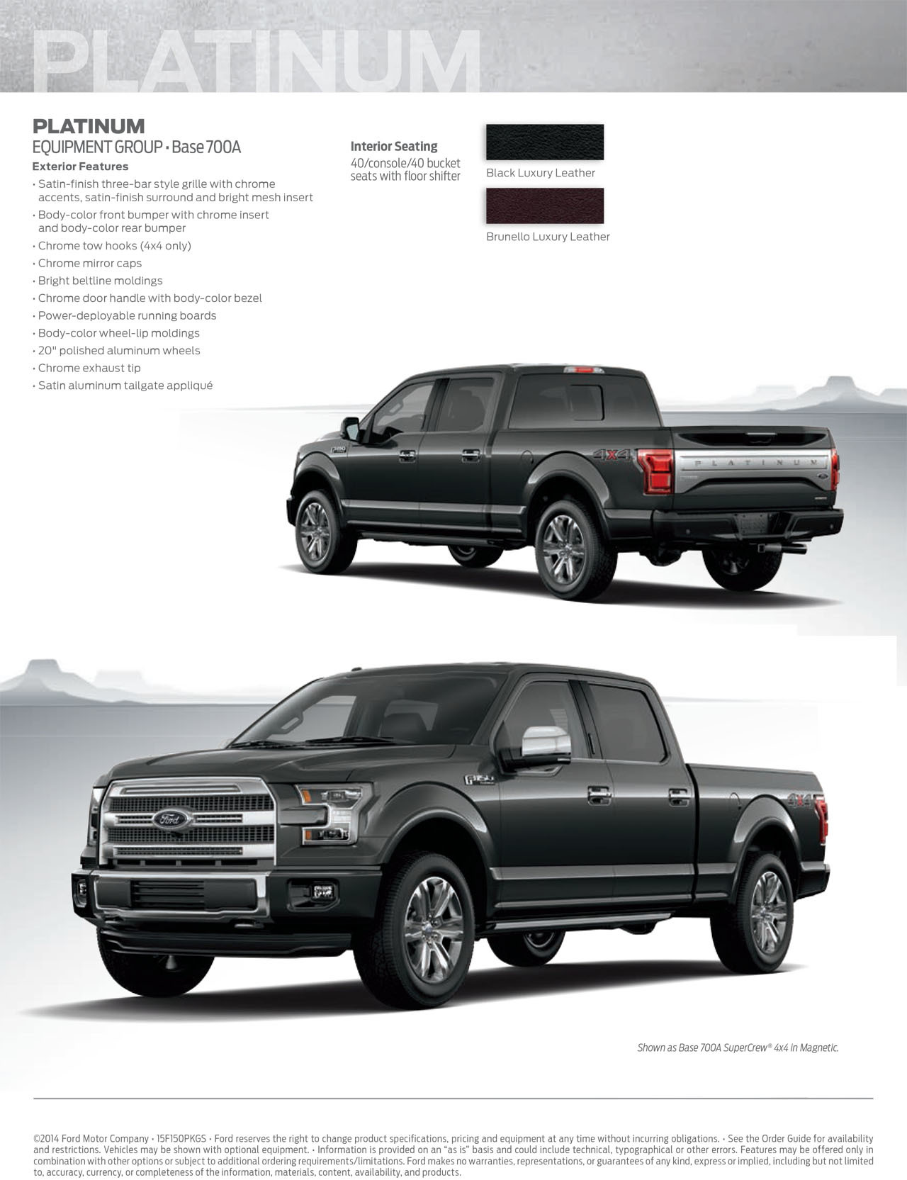 2015 F150 Brochure : brochure, Sport, Appearance, Package