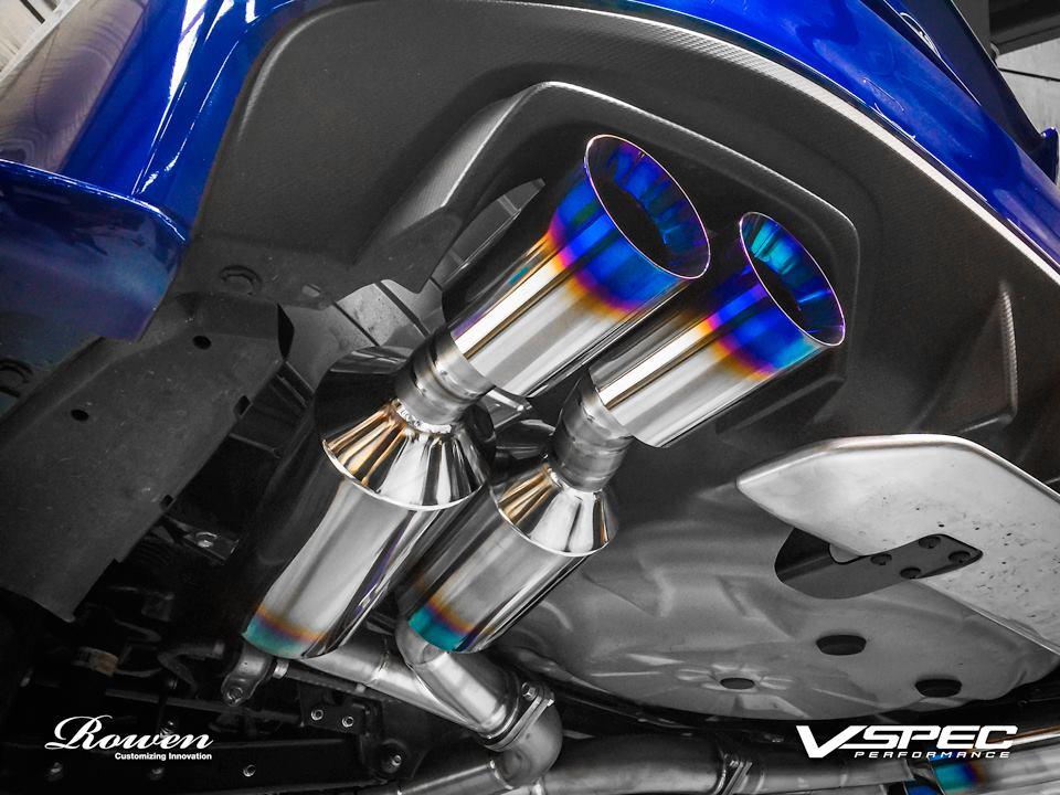 2015 Subaru WRX STI Gets Titanium Exhaust from Rowen - autoevolution
