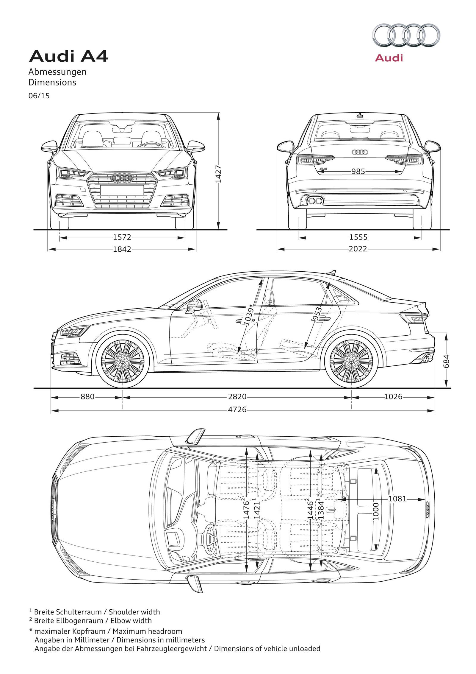 2017 Audi A4 Will Be Available with 2.0 TDI Diesel in the