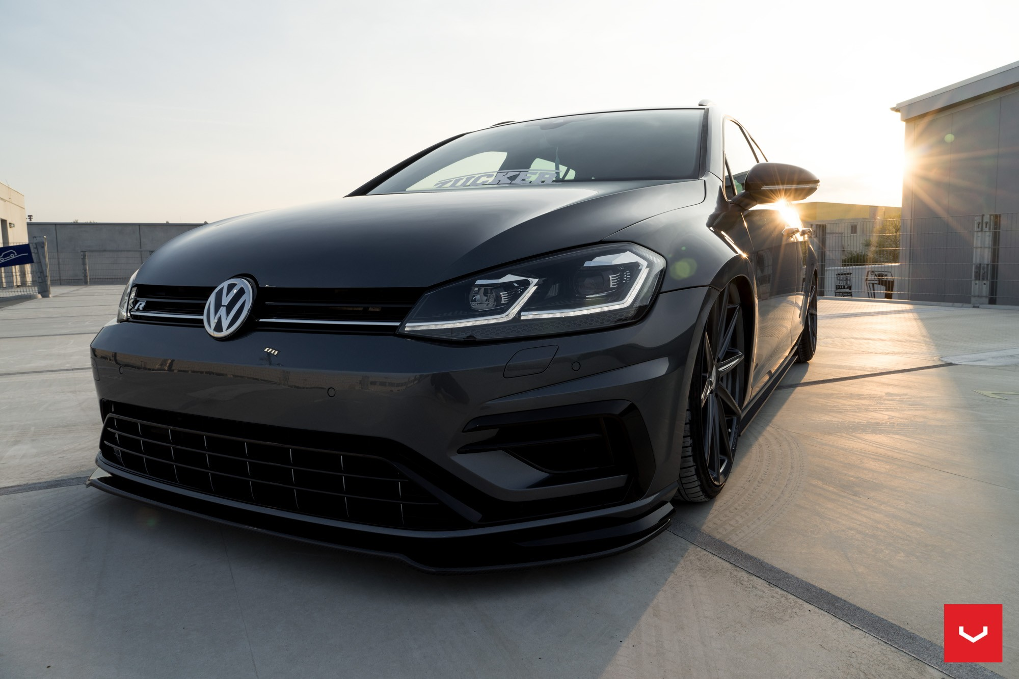 hight resolution of  2017 golf r variant gets stanced on vossen wheels for tuning debut