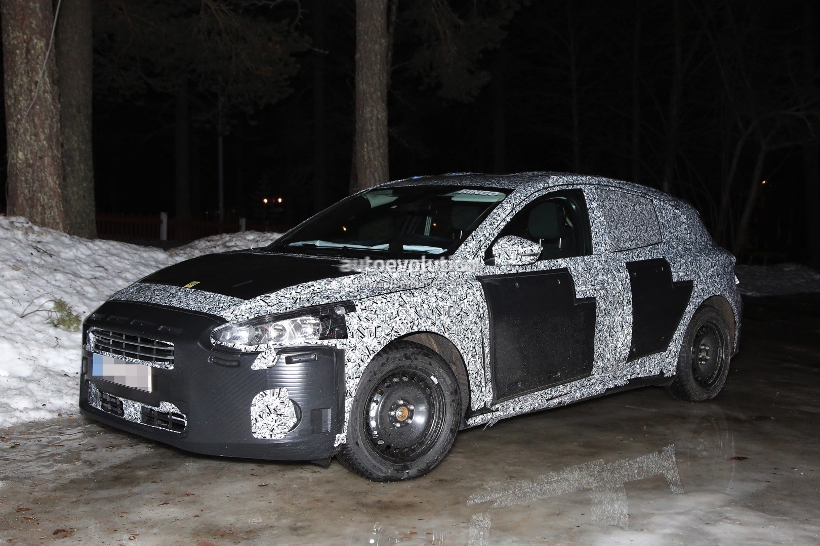 2018 Ford Focus Mk4 Spied Wearing Production Body Shell  autoevolution