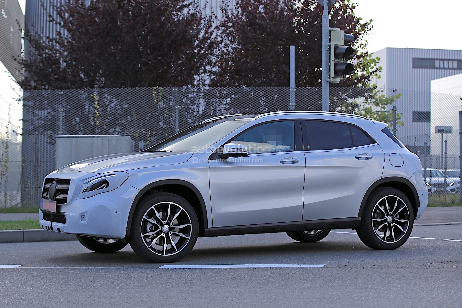 2018 Mercedes Benz GLA Facelift Caught With Much Higher