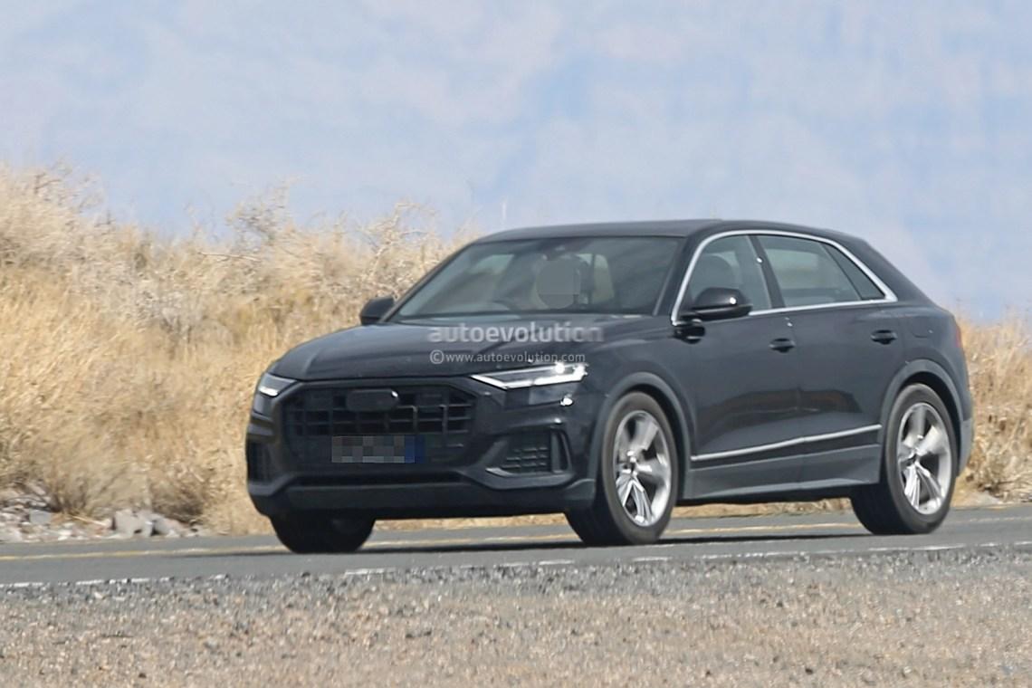 2019 audi q8 spied, shows lamborghini urus-like rear end design