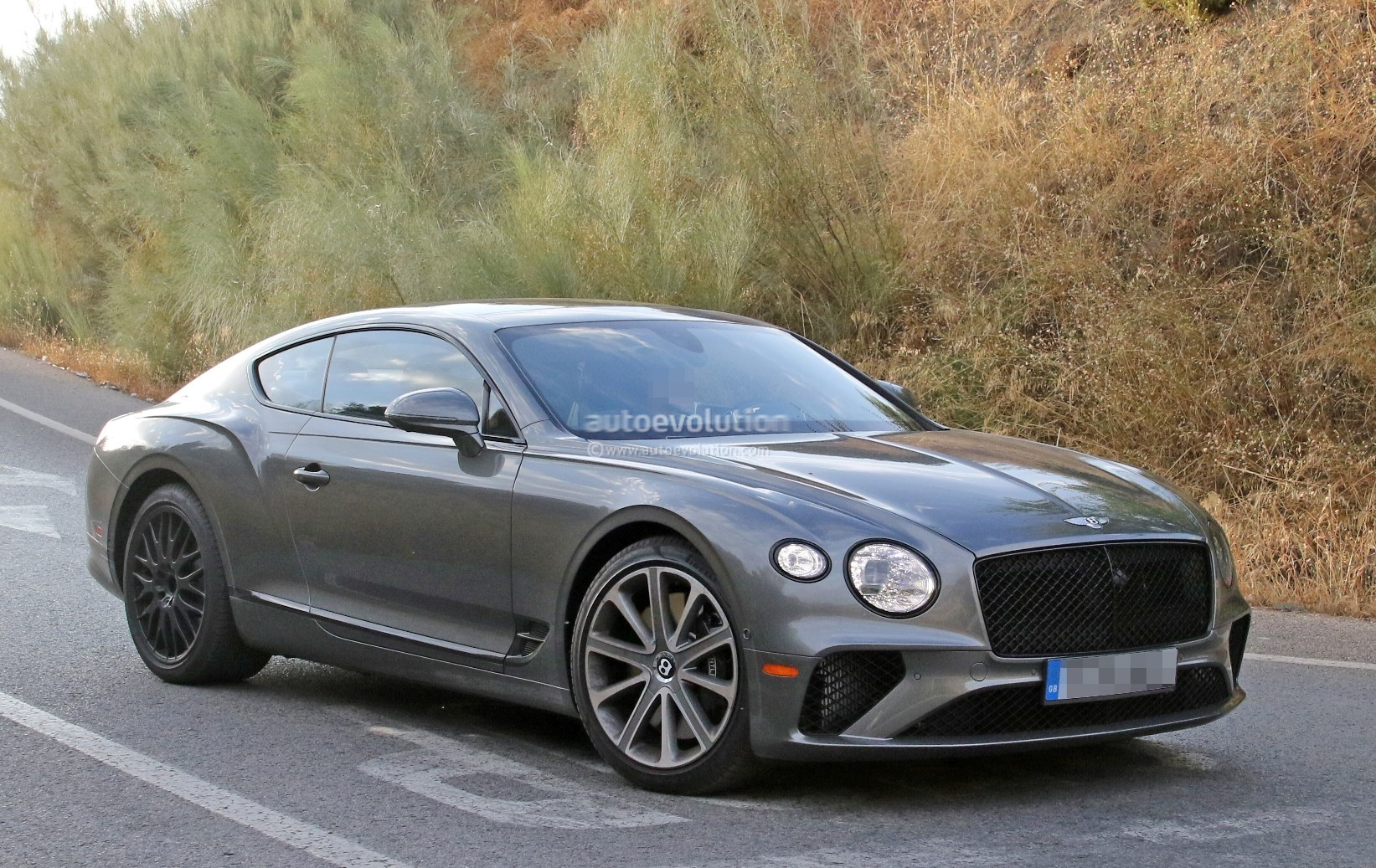 2019 Bentley Continental Gt Speed Spied With Black Grille