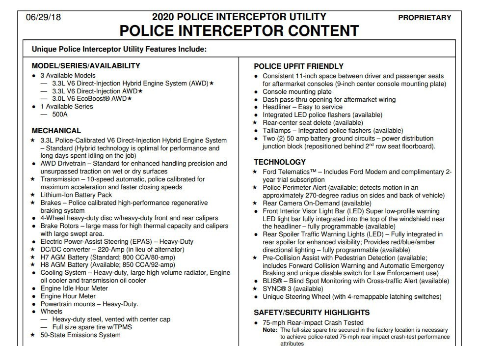 2020 Ford Police Interceptor Utility Hybrid V6 Confirmed  autoevolution