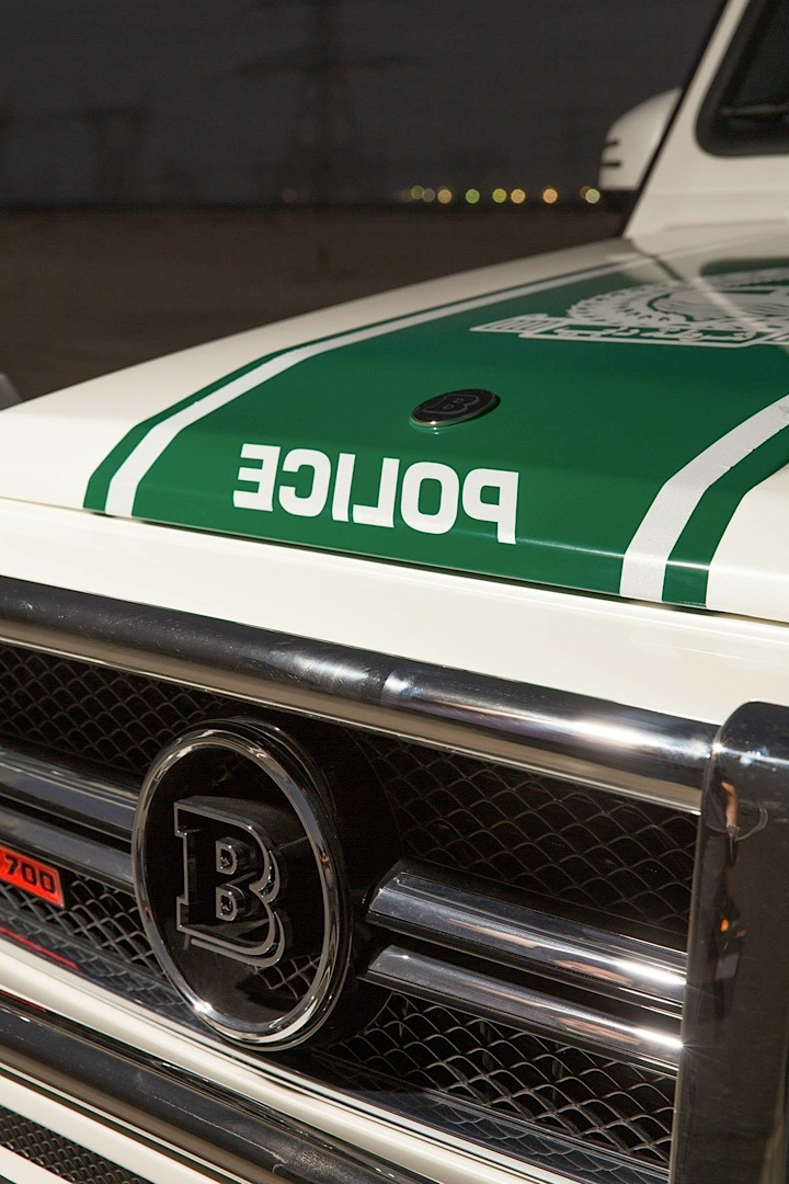 700 HP Brabus Mercedes G63 AMG Becomes Dubai Police Car  autoevolution