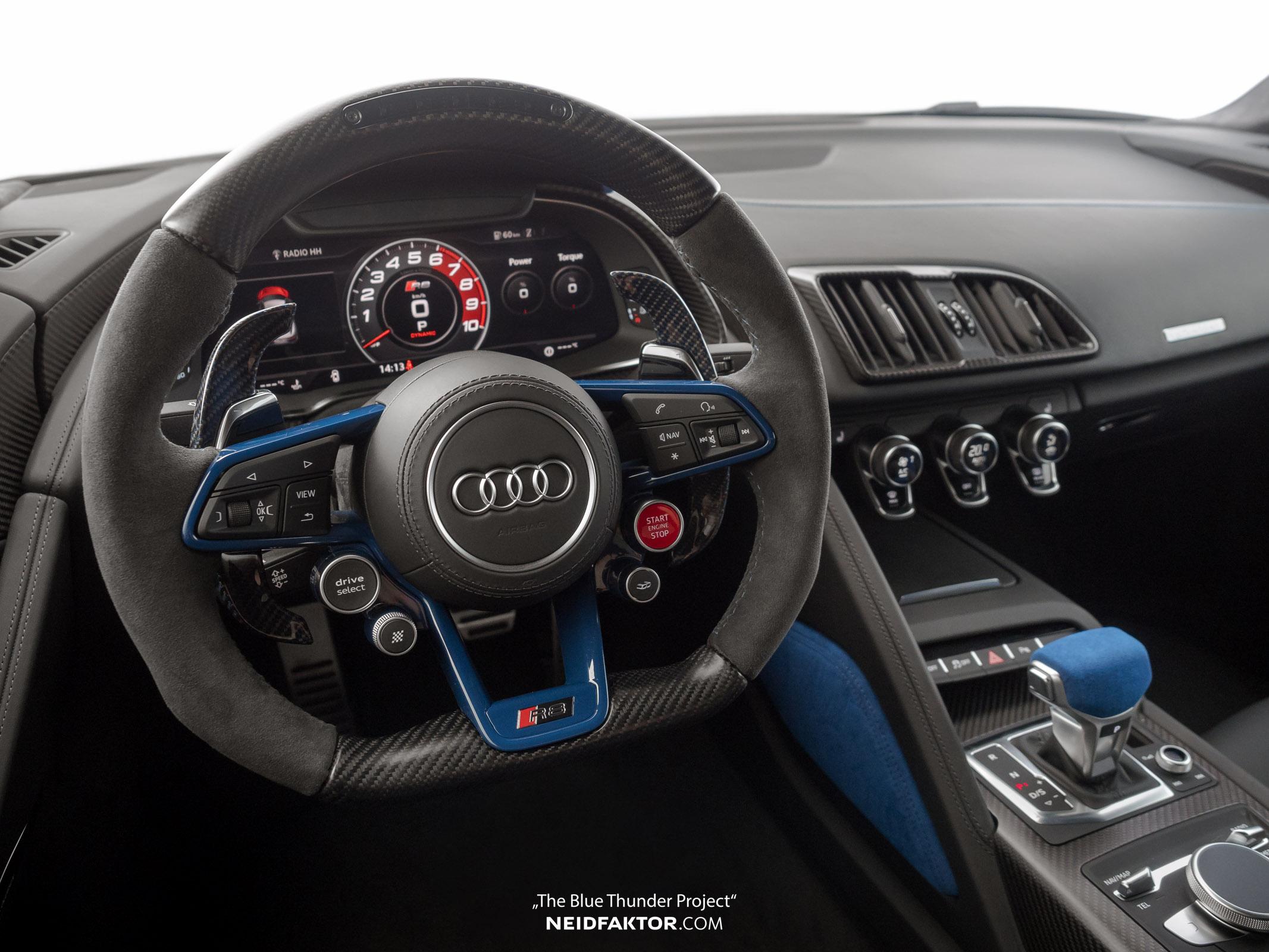 Audi R8 V10 Plus Blue Thunder Interior by Neidfaktor
