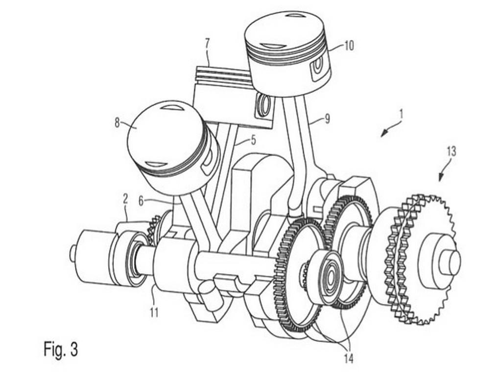 BMW Motorrad to Build a Weird W3-Engined Cruiser, Patent