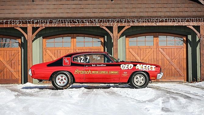 1970 chevrolet chevelle red alert super stock drag racer heading to auction