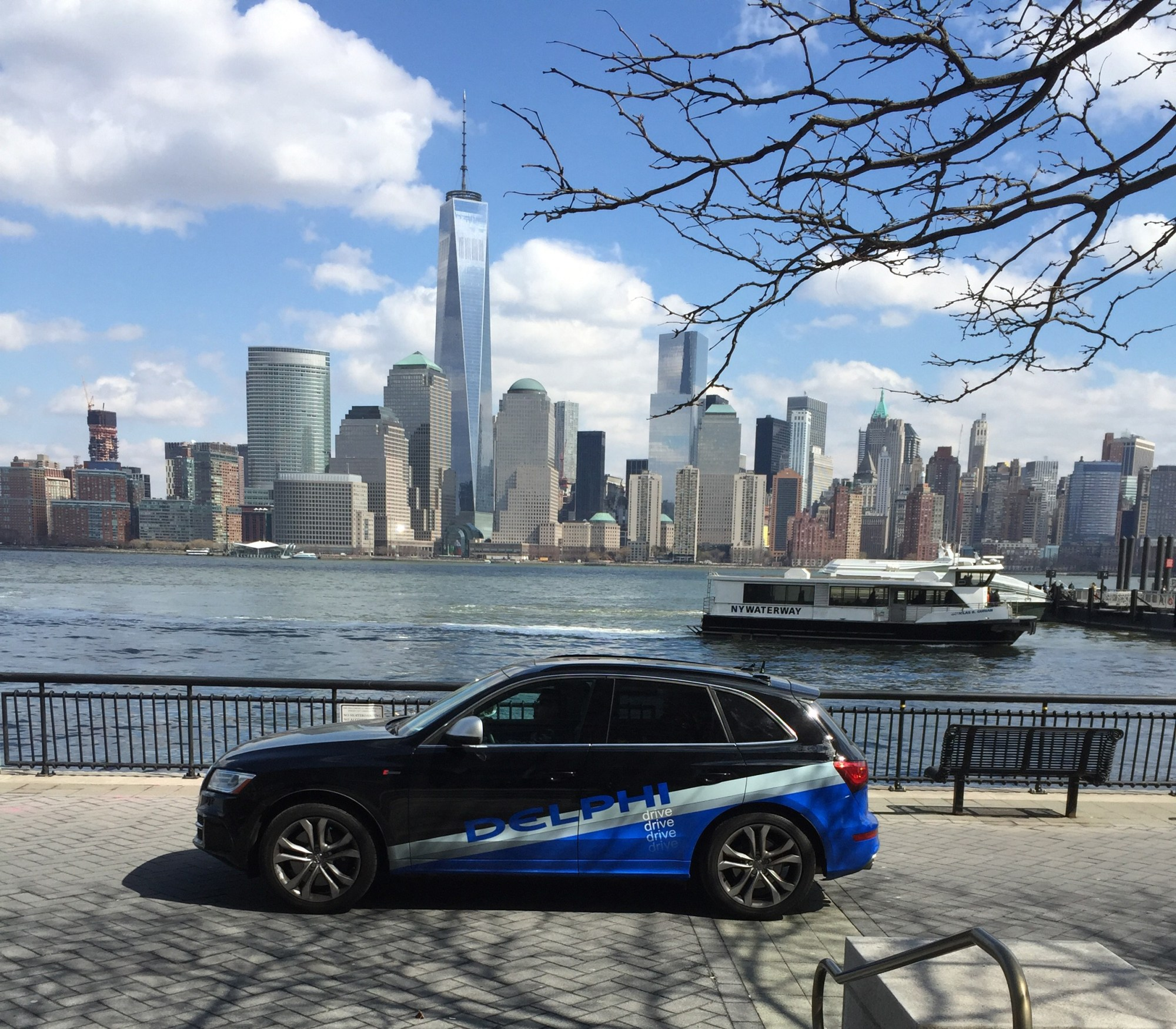 hight resolution of delphi s automated car in new york