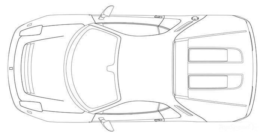 Eric Clapton's One-Off Ferrari: Patent Drawings