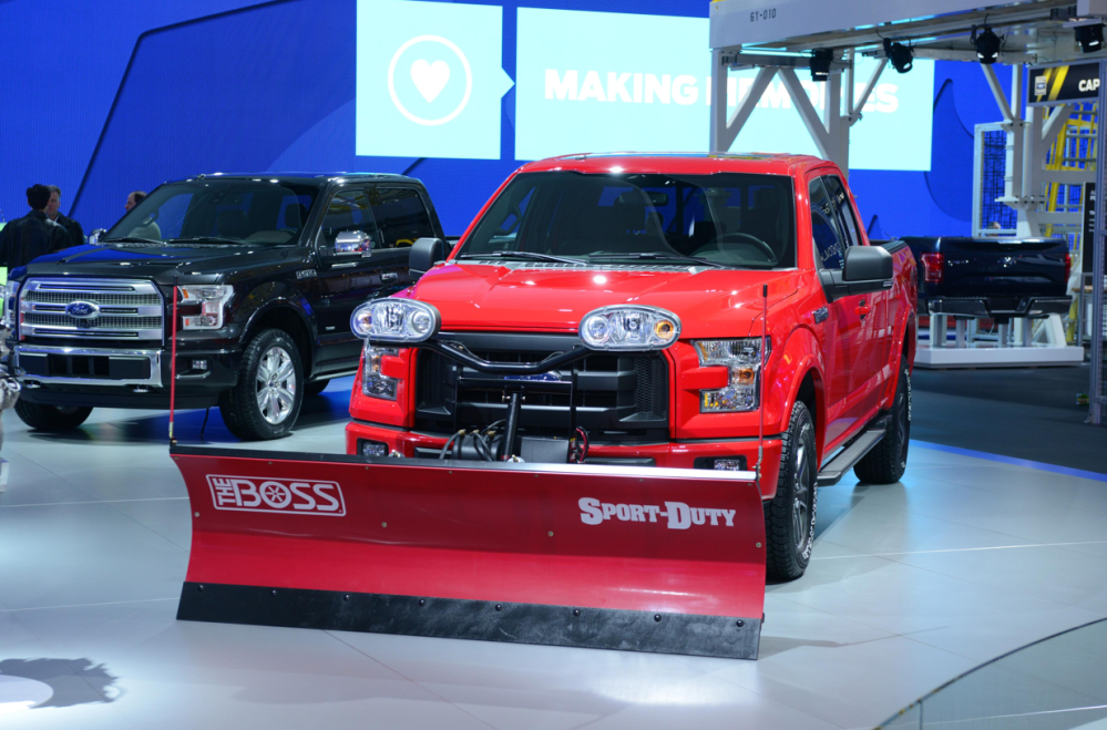 medium resolution of  2015 ford f 150 with snow plow