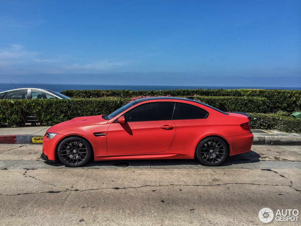 hight resolution of  frozen red bmw e92 m3
