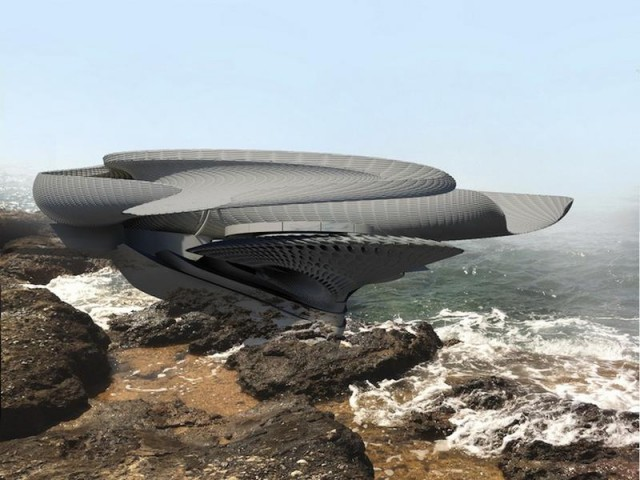 Futuristic Hydroelectric House Looks Like a Seashell Uses Tidal Power  autoevolution