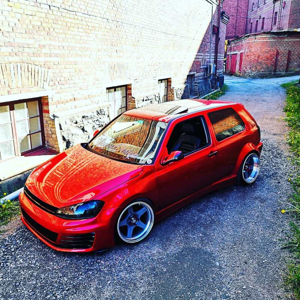 medium resolution of  guy builds 1997 golf vr6 with 2016 golf gti front similar polo