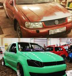 guy builds 1997 golf vr6 with 2016 golf gti front similar polo  [ 1080 x 1080 Pixel ]