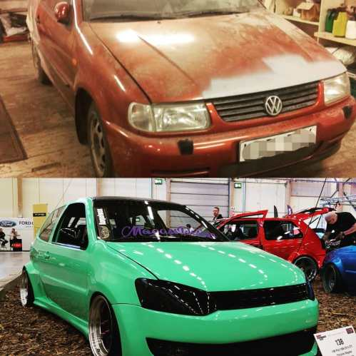 small resolution of  guy builds 1997 golf vr6 with 2016 golf gti front similar polo