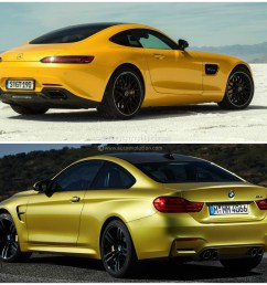 bmw m4 vs mercedes amg gt  [ 1440 x 1080 Pixel ]