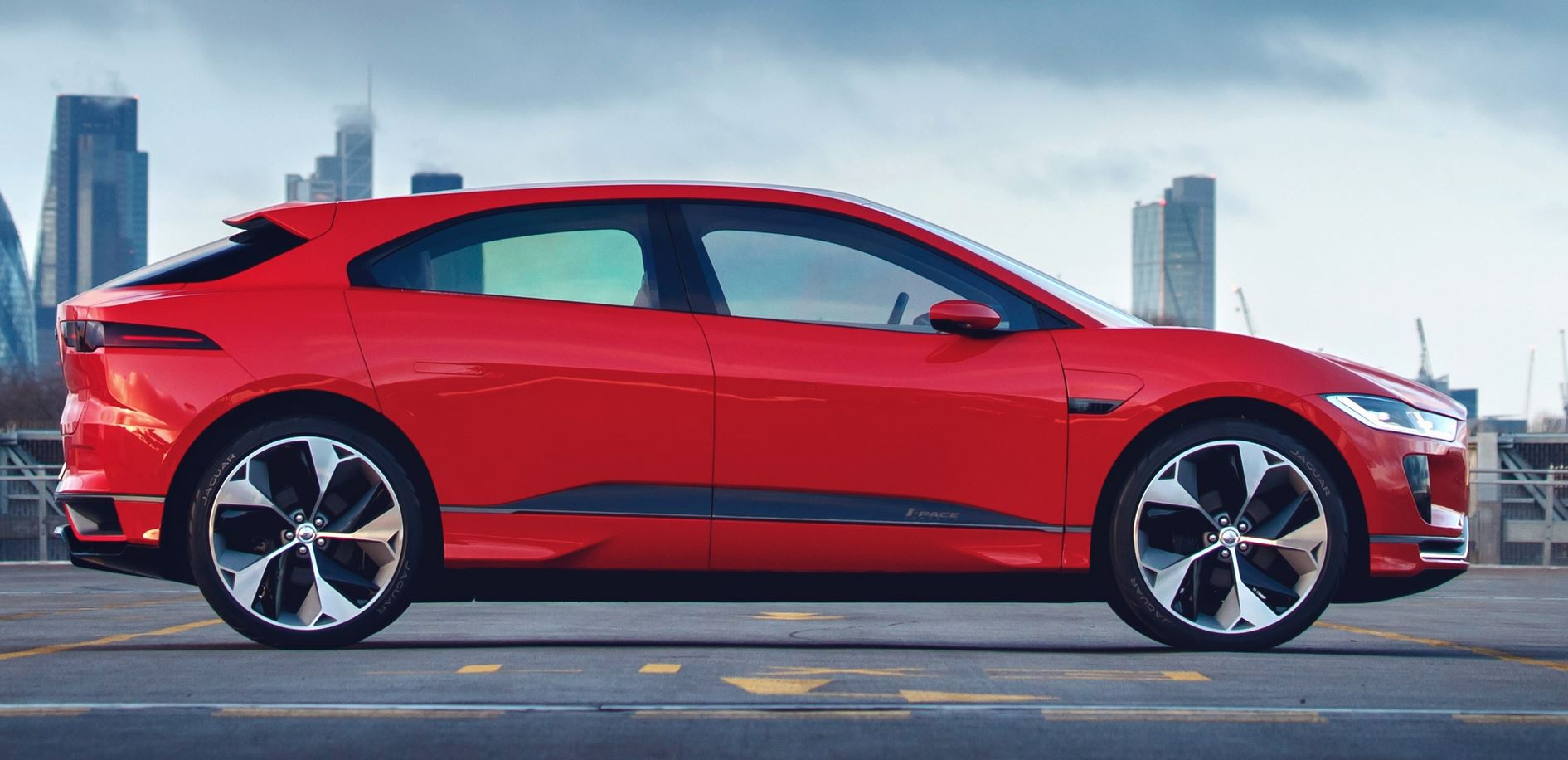 Jaguar IPace Concept Gets Sexy Red Paint for Geneva Debut