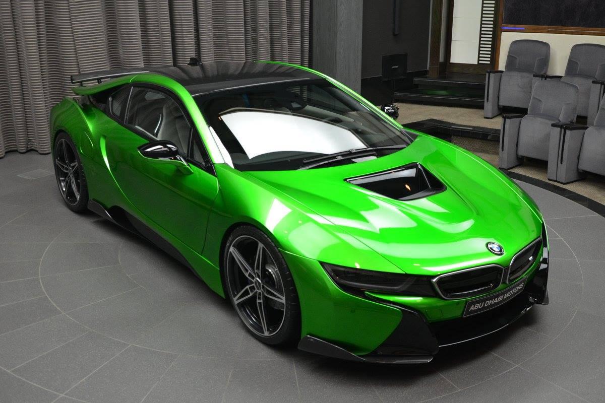 Lava Green BMW I8 Revealed In Abu Dhabi Autoevolution