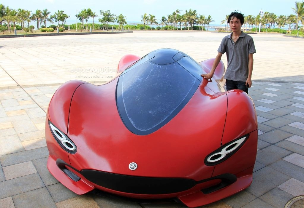 Man From China Builds Electric Supercar For $5,000