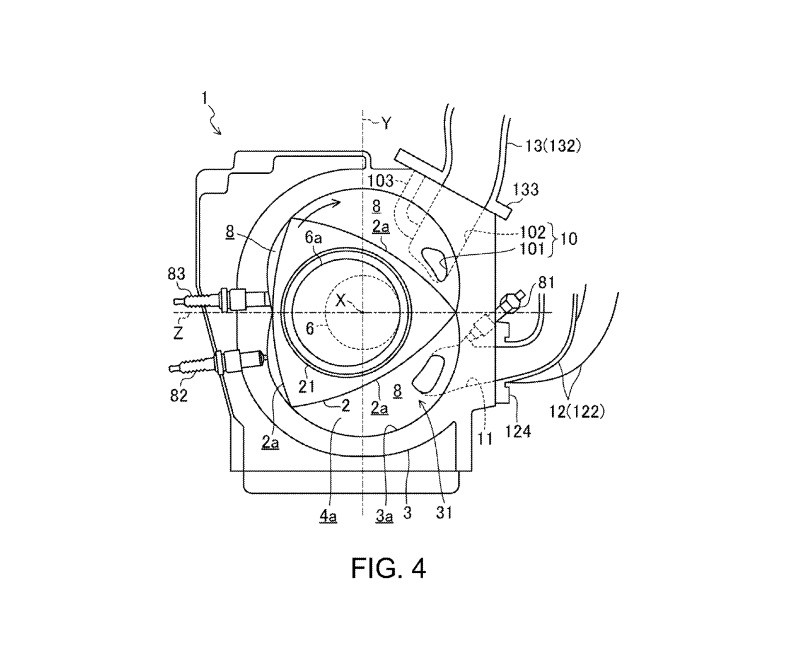 New Mazda Rotary Engine Presented in Patent Application
