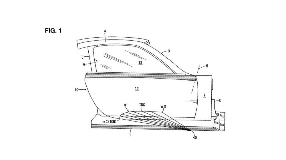 medium resolution of  mazda door support structure of automotive vehicle rumored rx 9 rotary sports car