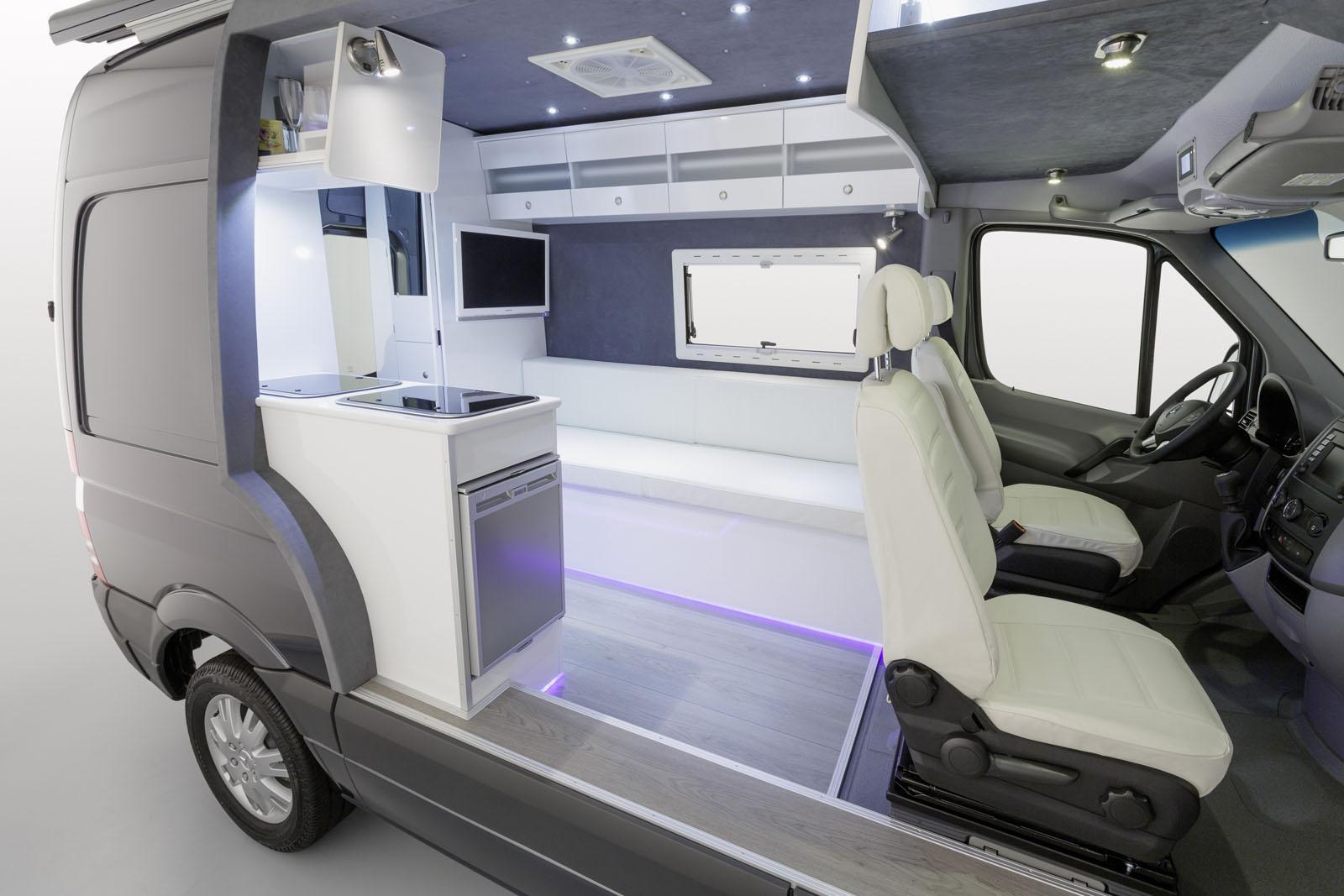 Mercedes Showcases Sprinter Caravan CutAway  autoevolution