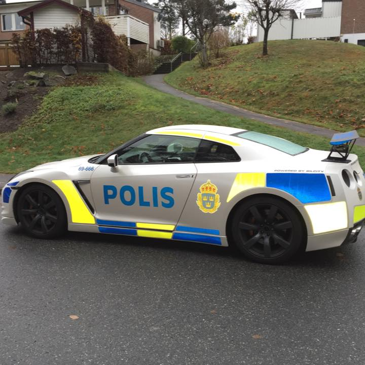 Nissan GT R Dressed Up As Police Car In Sweden Autoevolution