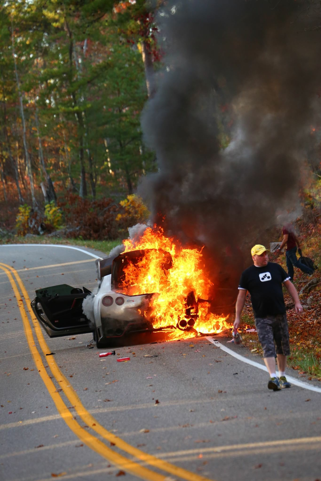 Nissan GT R Nismo Burns Down On Tail Of The Dragon