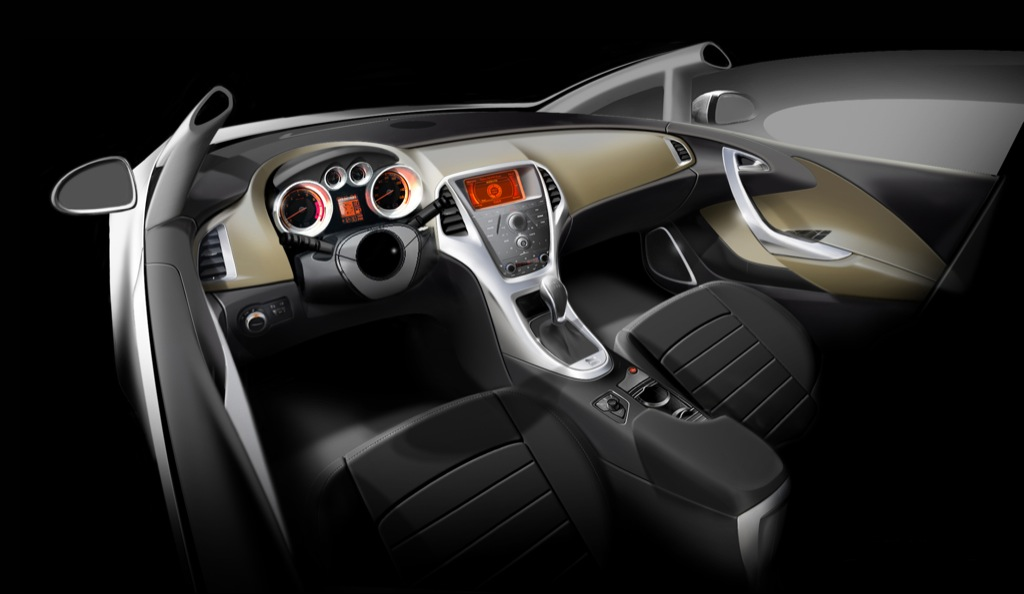 Opel Astra Interior Revealed Pics Inside Autoevolution