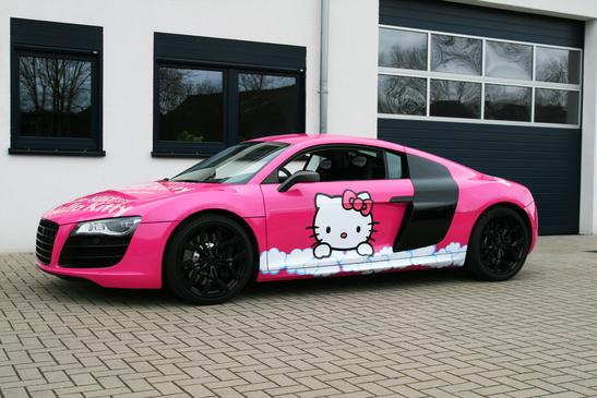 Wallpaper Accident Cars Pink Audi R8 V10 Hello Kitty Loves You Autoevolution
