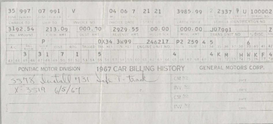 Pontiac Firebird VIN #100001, VIN #100002 Up For Auction