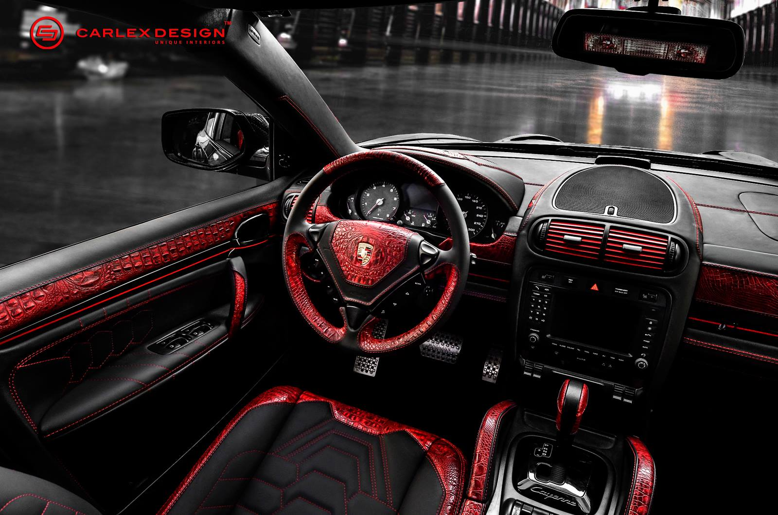 Porsche Cayenne Goes Reptilian With Red Crocodile Leather