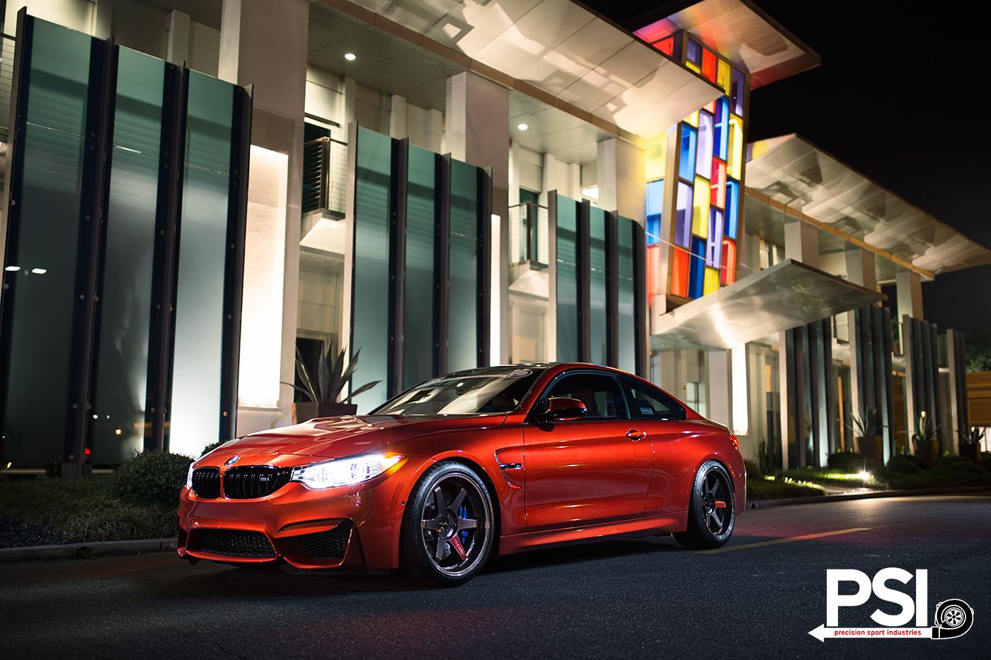 PSIs Sakhir Orange BMW M4 Makes some Friends  autoevolution