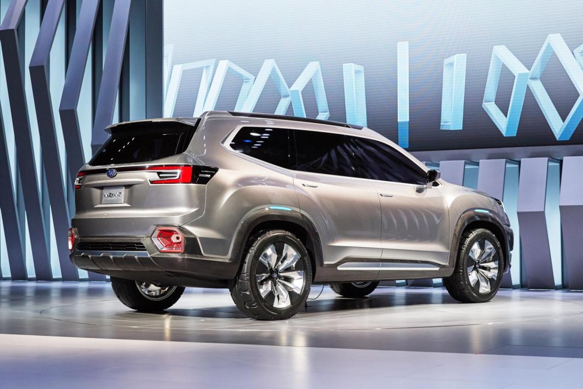 2019 subaru three row crossover is expected to get hybrid drivetrain