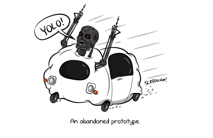 The Oatmeal Gives the Thumbs Up to the Google Self-Driving