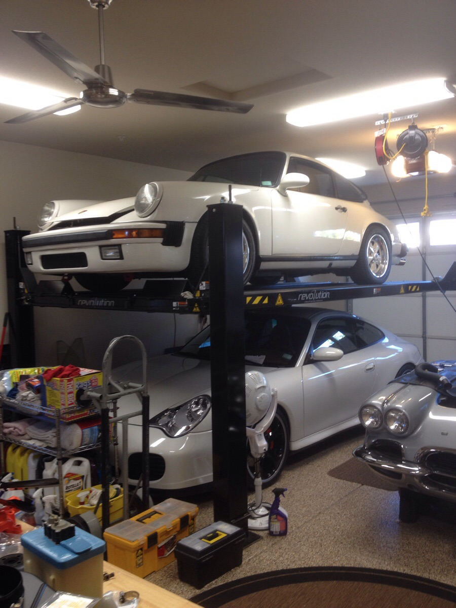 This Grandpa Owns a Cool Garage Porsche Guy with a Chevy