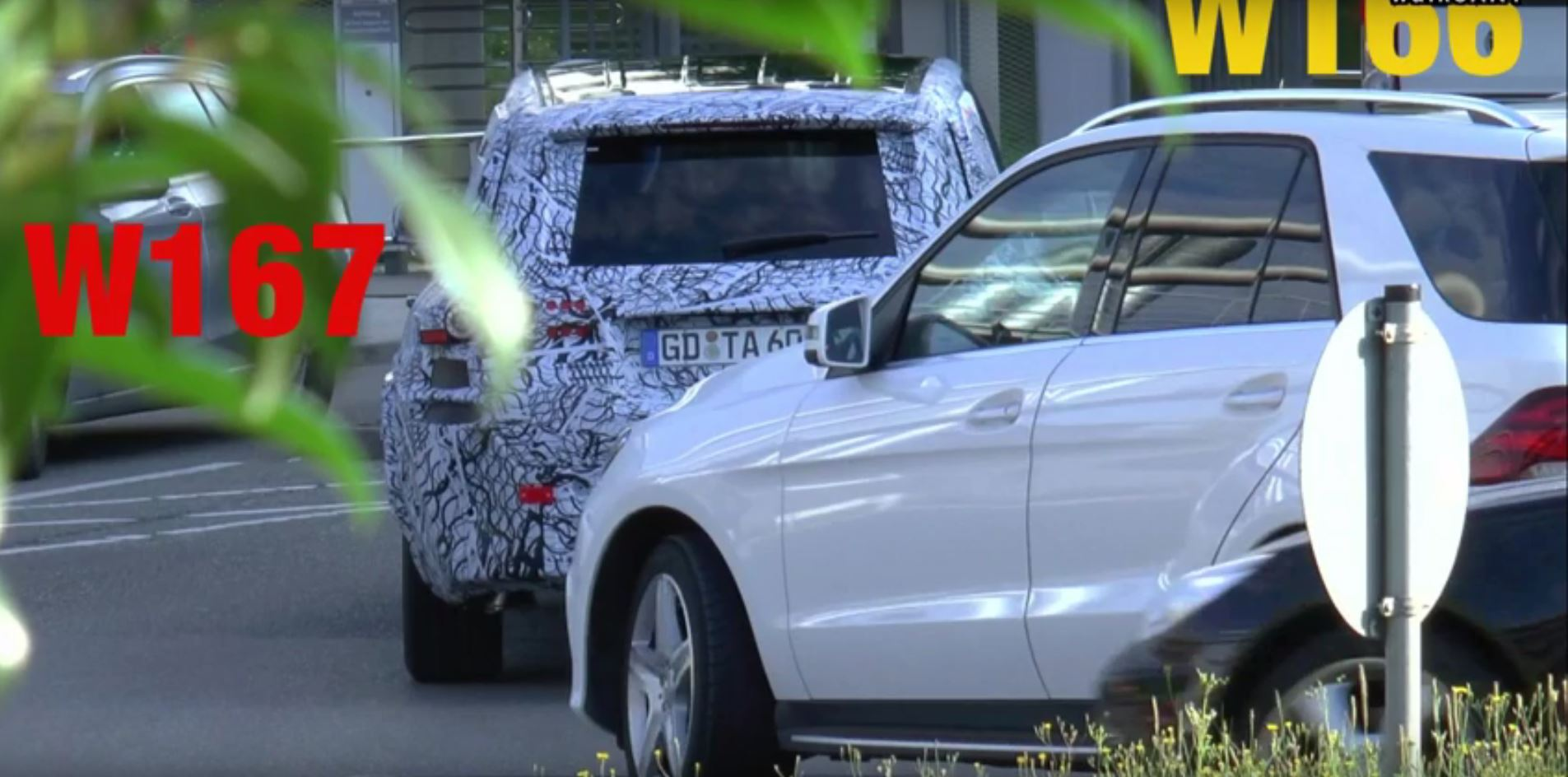 2019 W167 GLE Class Prototype Joined By W166 For Testing