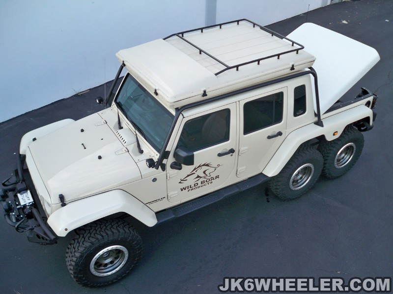 Wild Boar Jeep Wrangler 6x6 Has Guns And A Matching